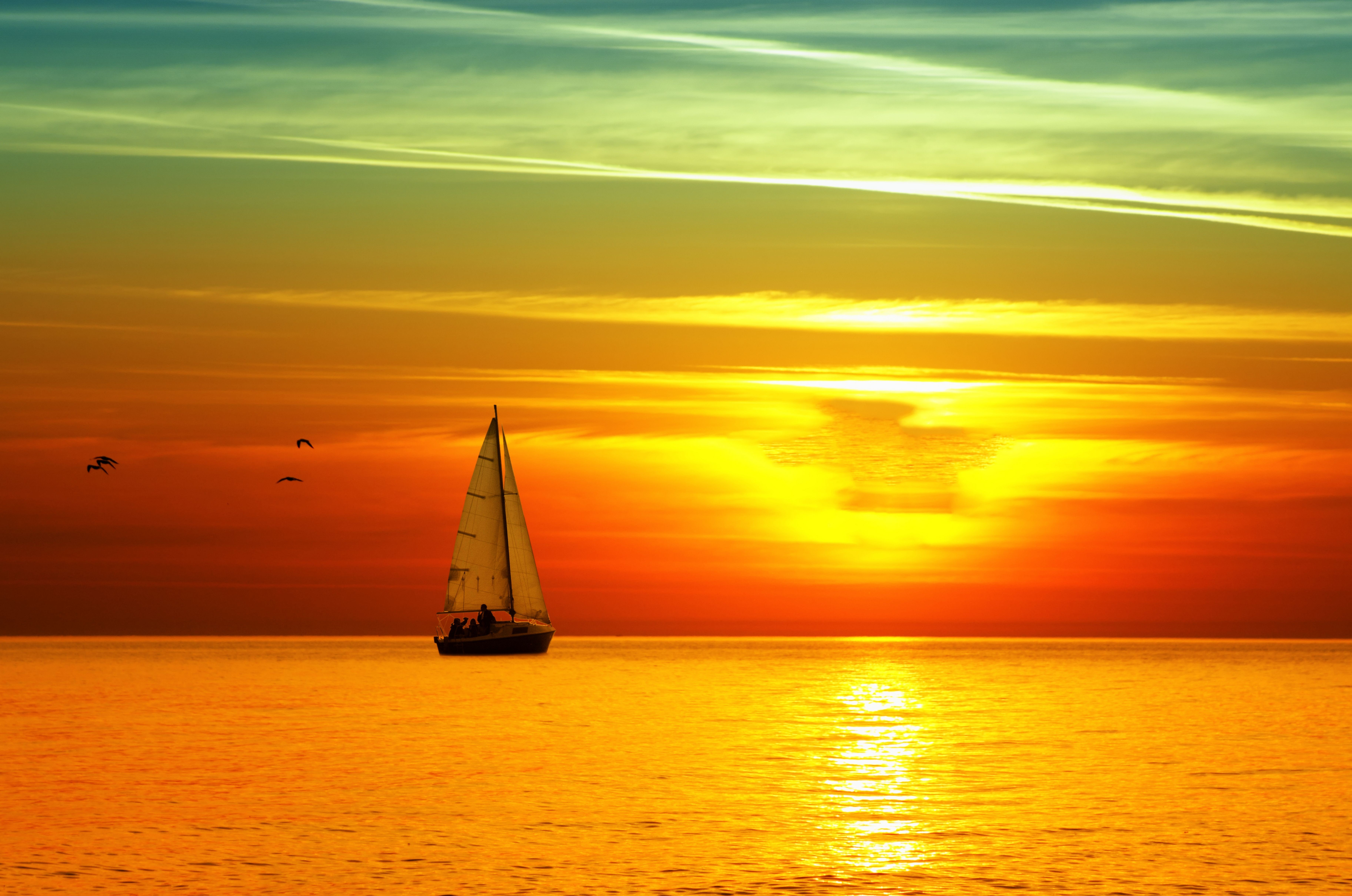 Sailboat wallpapers pictures images for Sfondi desktop tramonti mare
