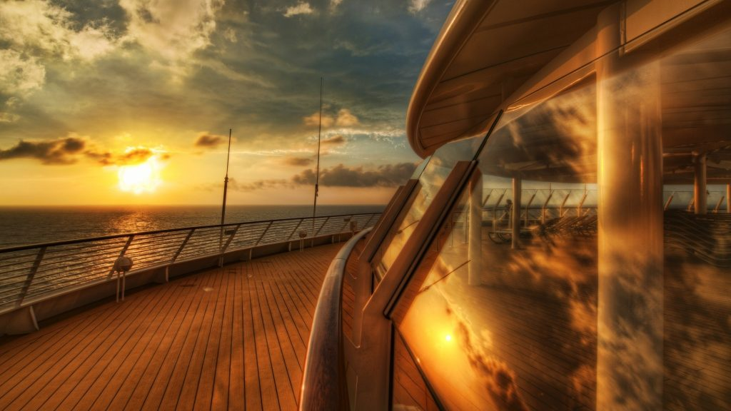 Cruise Ship Dual Monitor Background