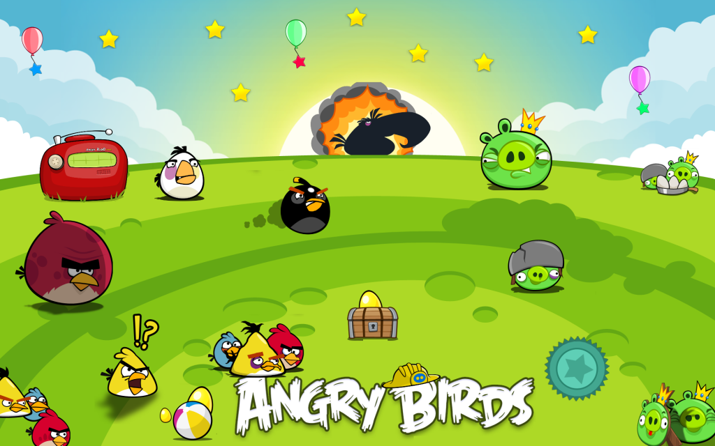 Angry Birds Widescreen Wallpaper