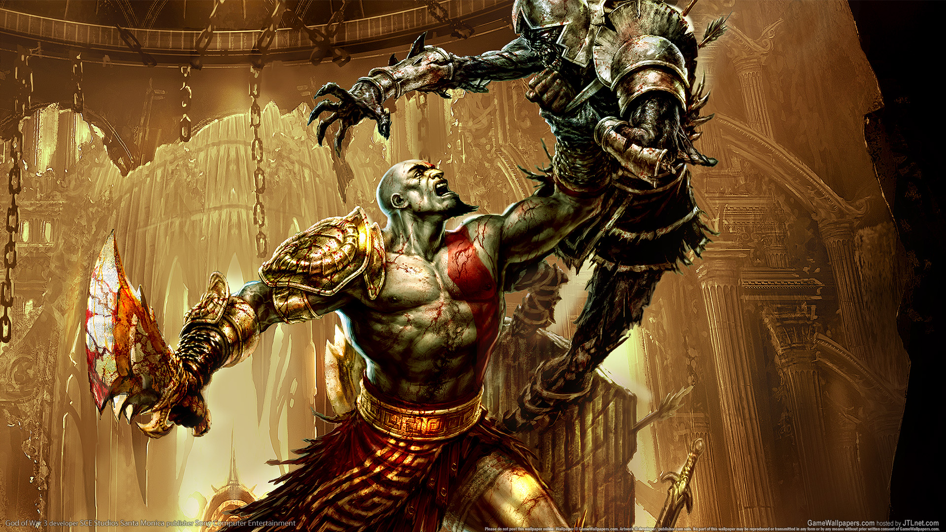 God of war iii wallpapers pictures images god of war iii full hd wallpaper voltagebd Images