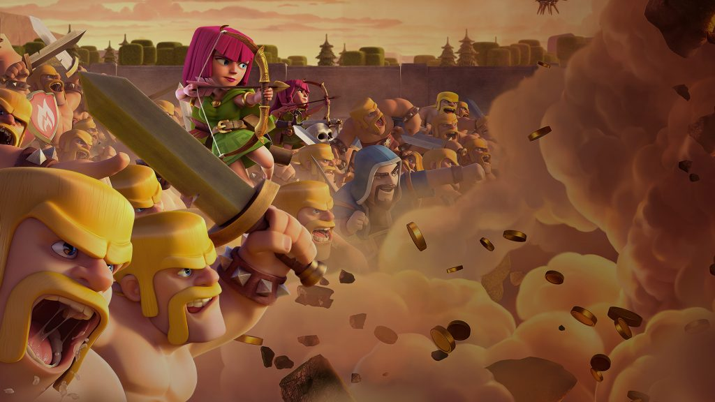 Clash Of Clans Dual Monitor Wallpaper