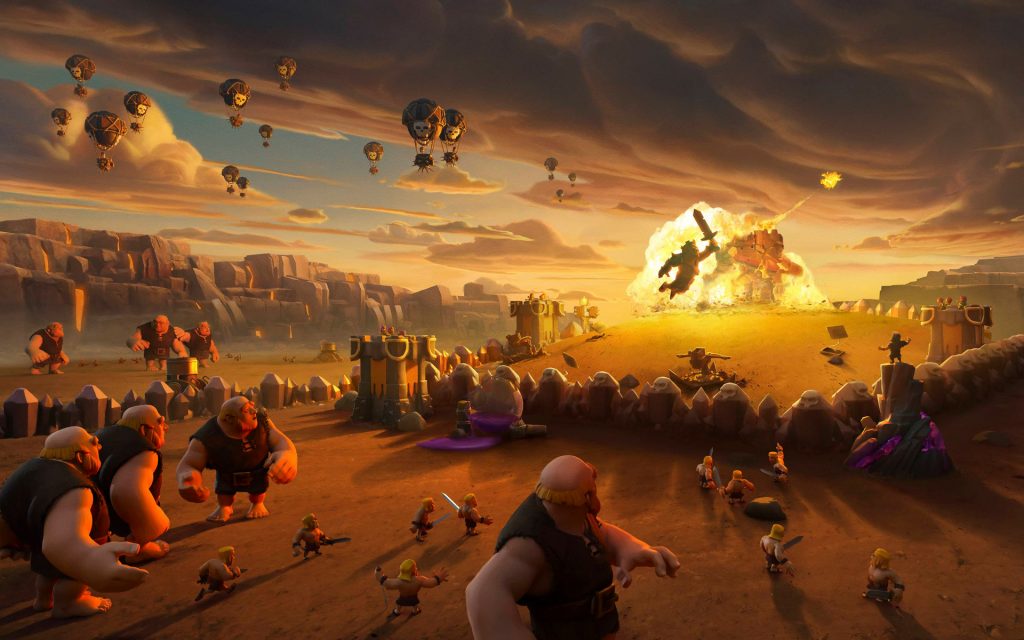 Clash Of Clans Widescreen Wallpaper