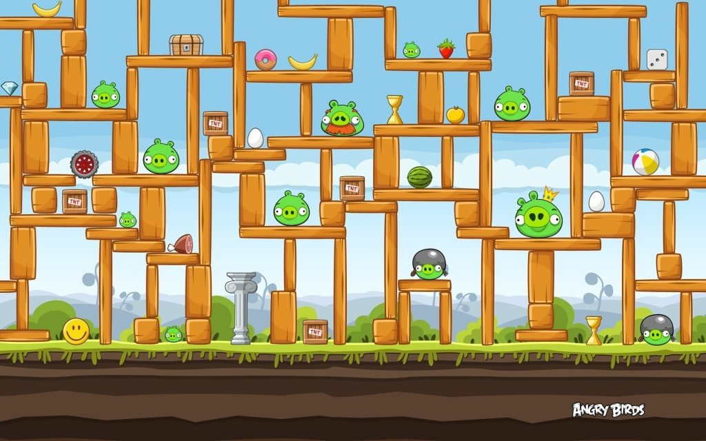 Angry Birds Widescreen Background