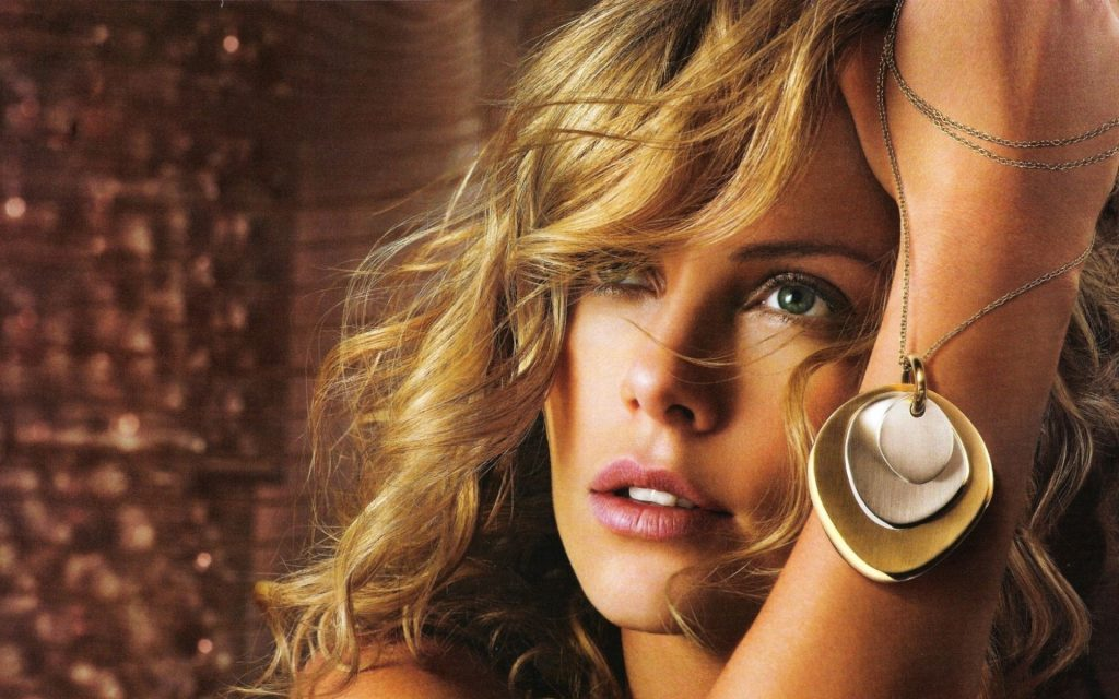 Charlize Theron HD Widescreen Background