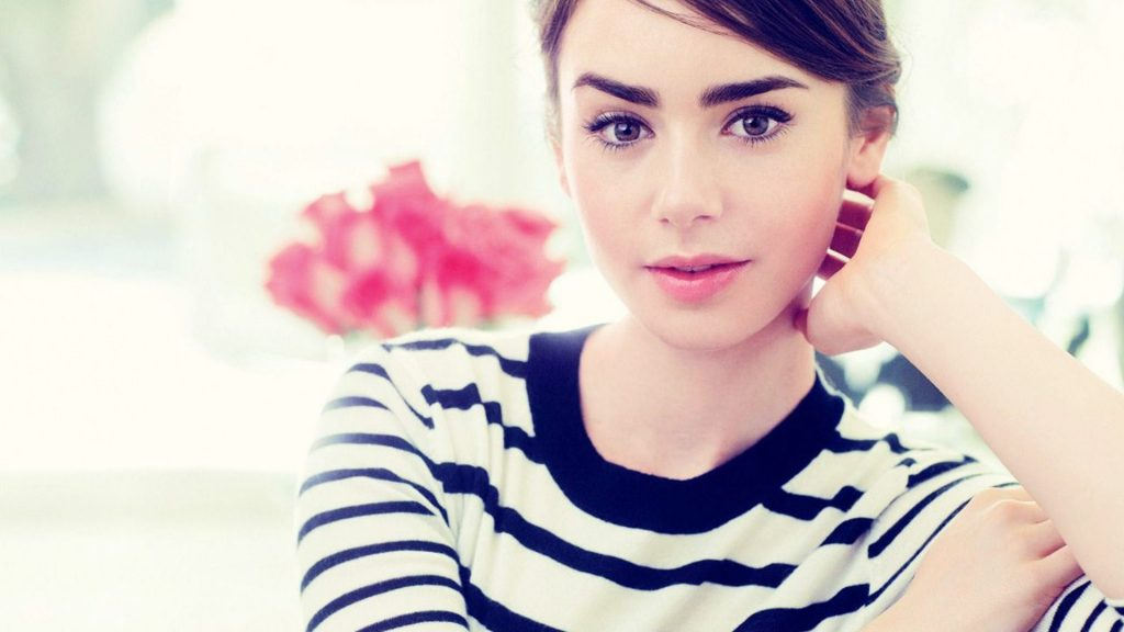 Lily Collins Full HD Background