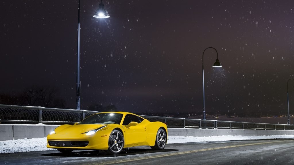 Ferrari 458 Italia Dual Monitor Wallpaper