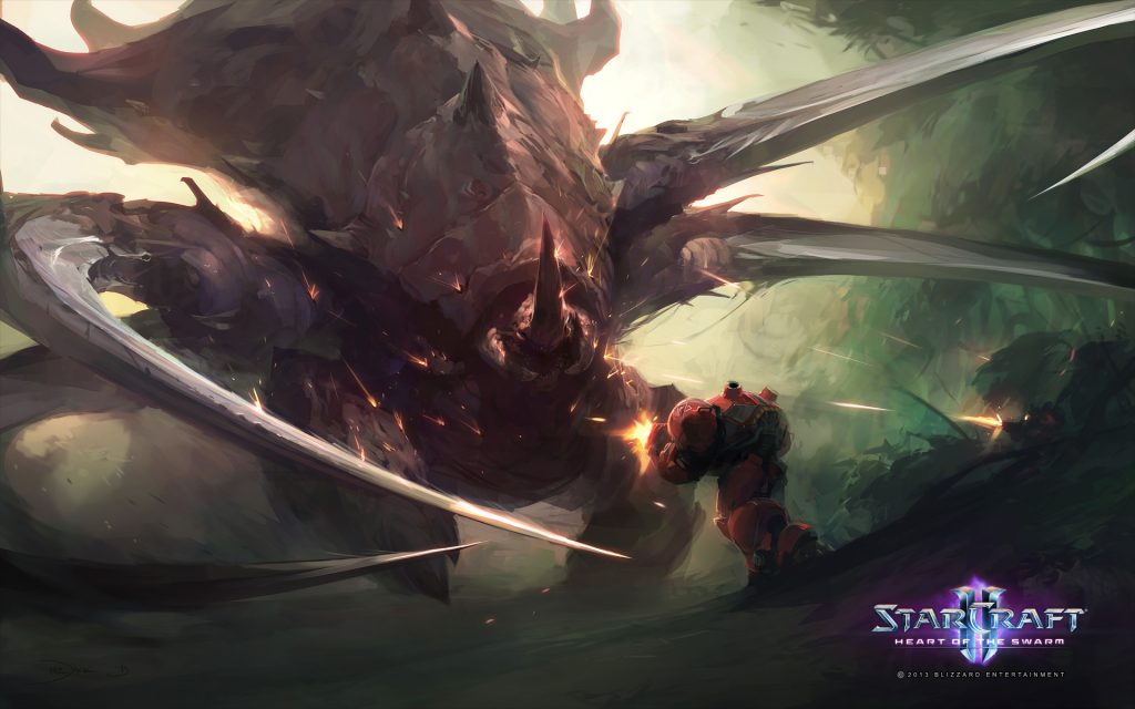 StarCraft II: Heart Of The Swarm Widescreen Background