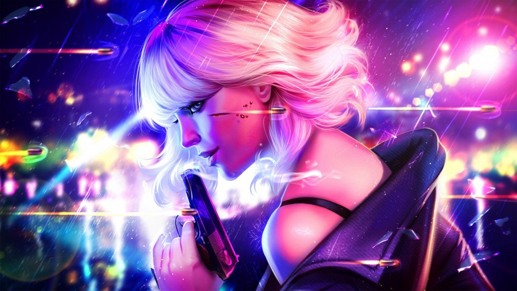 Atomic Blonde Full HD Wallpaper