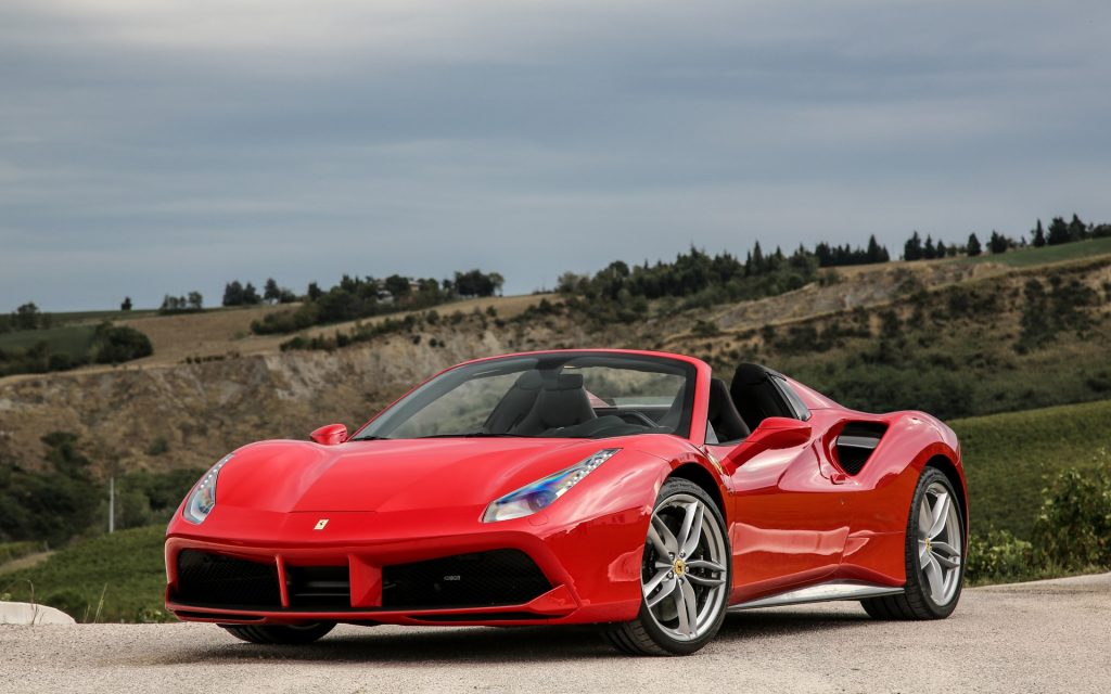 Ferrari 488 Spider Widescreen Wallpaper