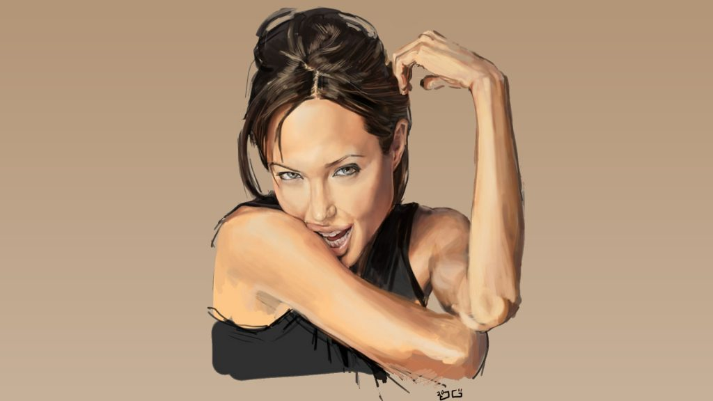 Angelina Jolie HD Full HD Background