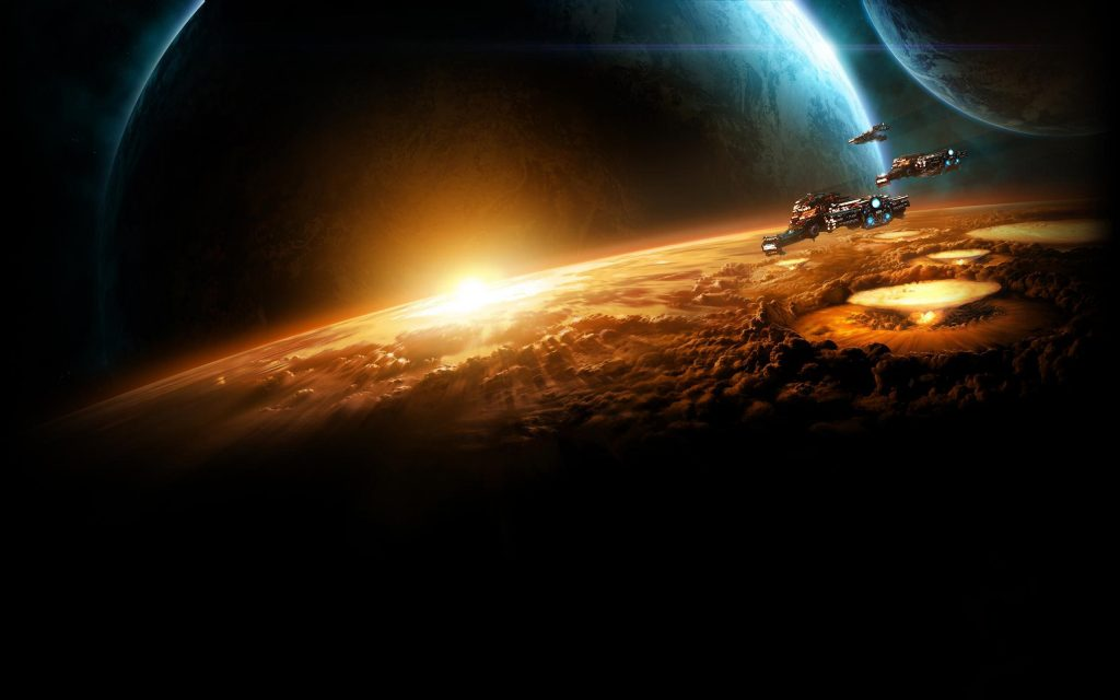 Starcraft II Widescreen Background