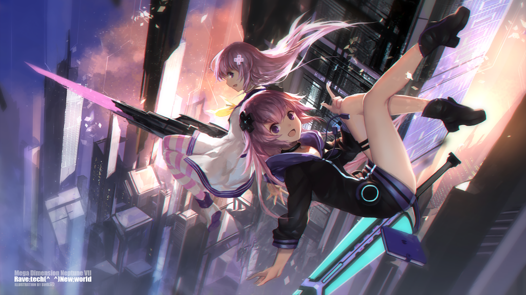 Hyperdimension Neptunia Quad HD Wallpaper