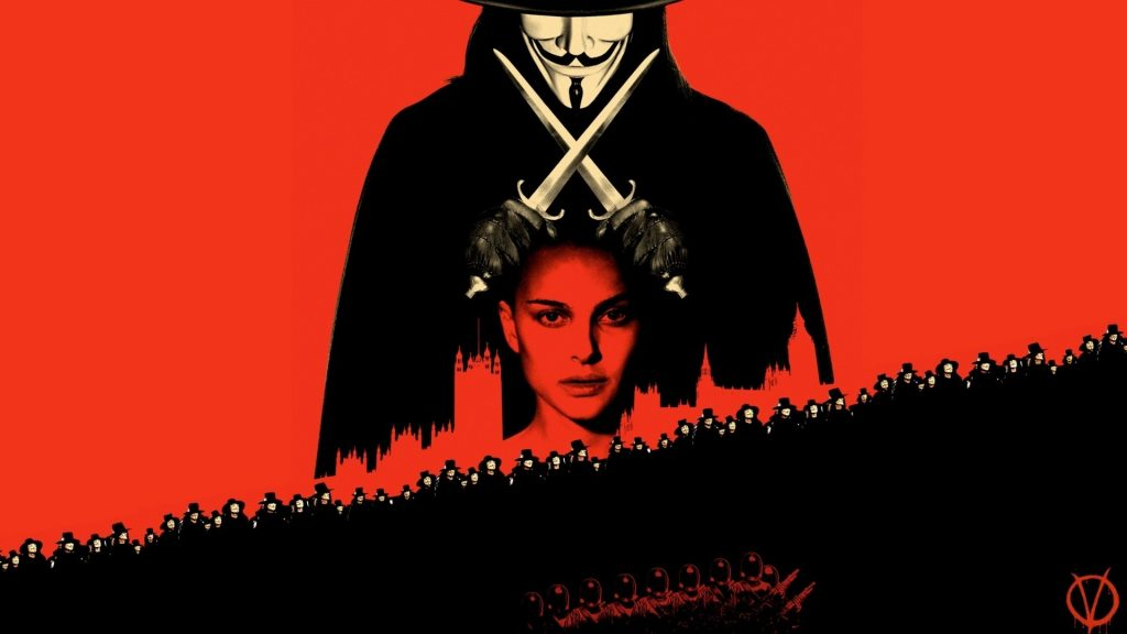 V For Vendetta Full HD Background