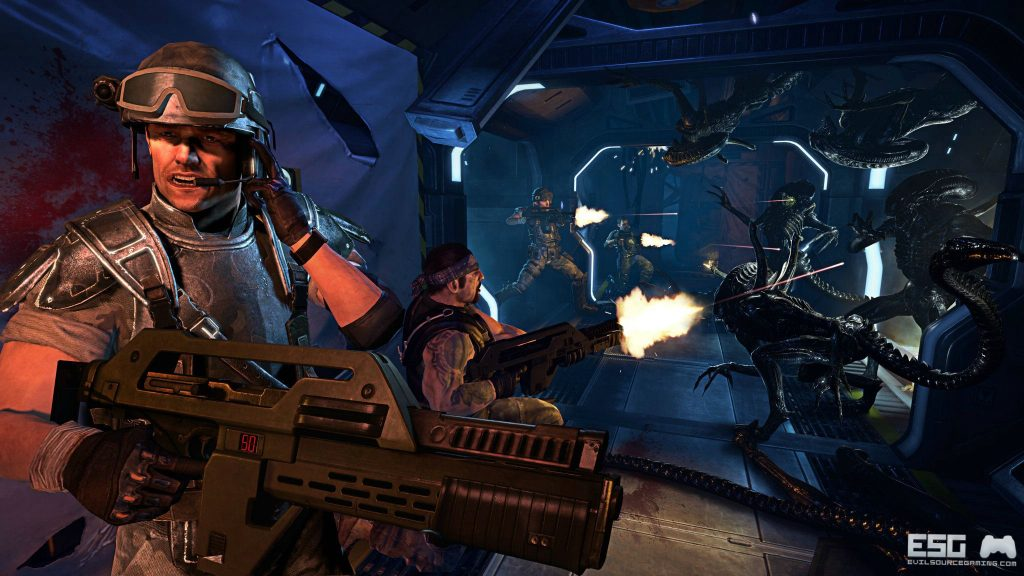 Aliens: Colonial Marines Dual Monitor Wallpaper