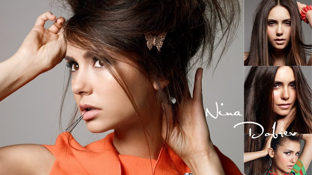 Nina Dobrev HD Full HD Background