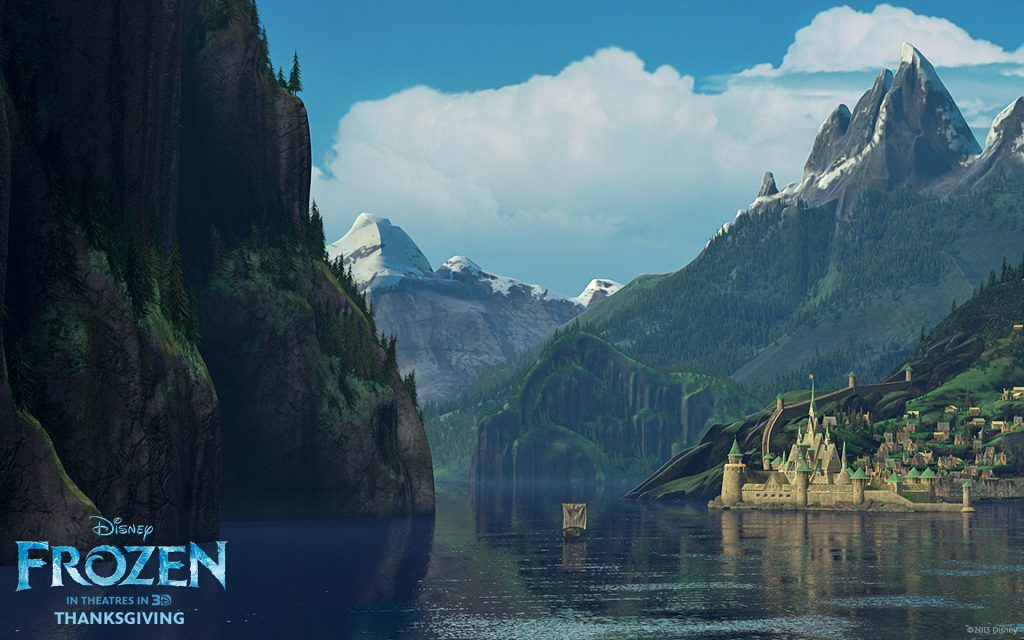 Frozen Widescreen Background