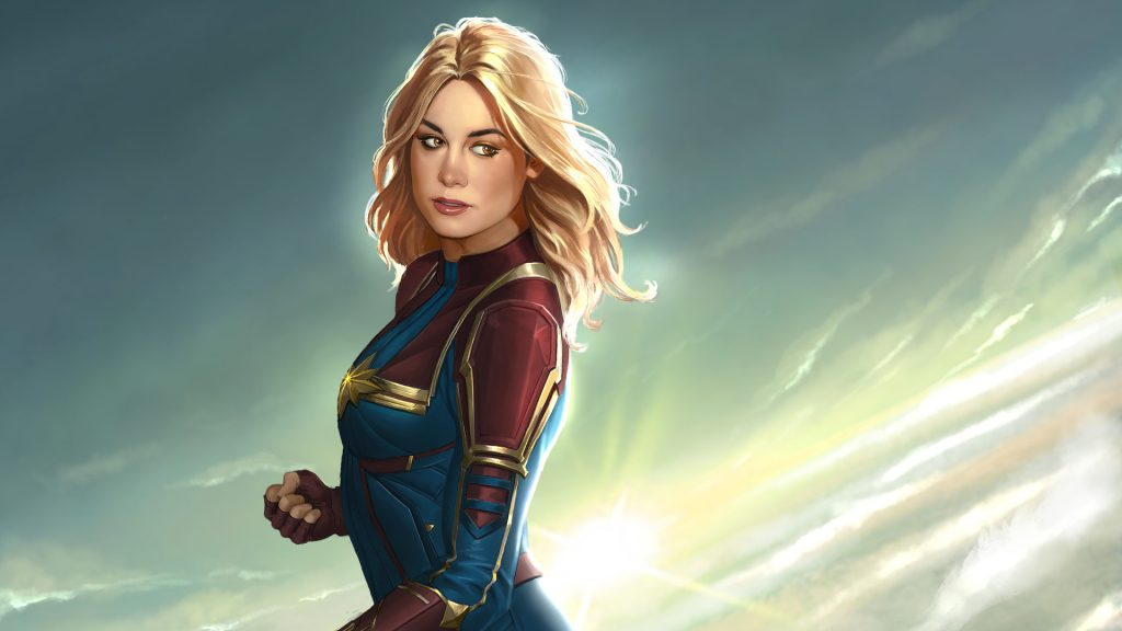 Captain Marvel Full HD Wallpaper