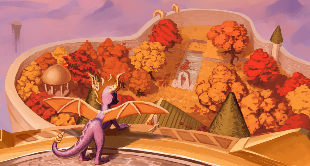 Spyro The Dragon Background