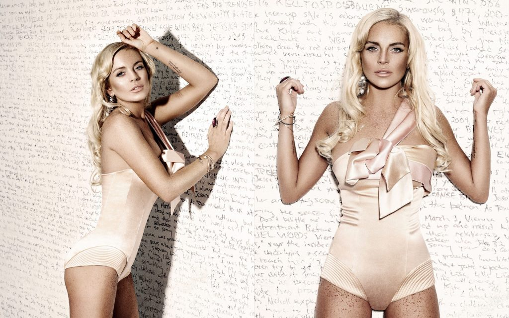 Lindsay Lohan HD Widescreen Background