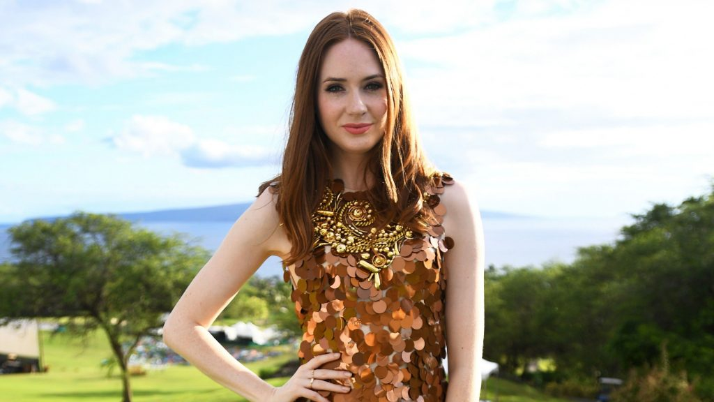 Karen Gillan Dual Monitor Background