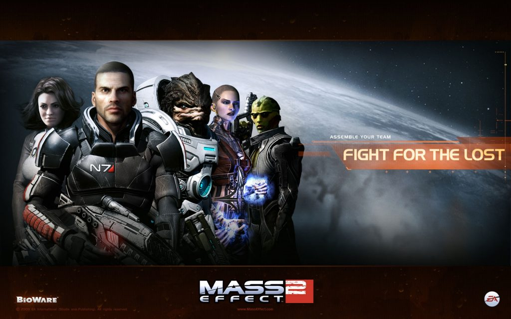 Mass Effect 2 Widescreen Background