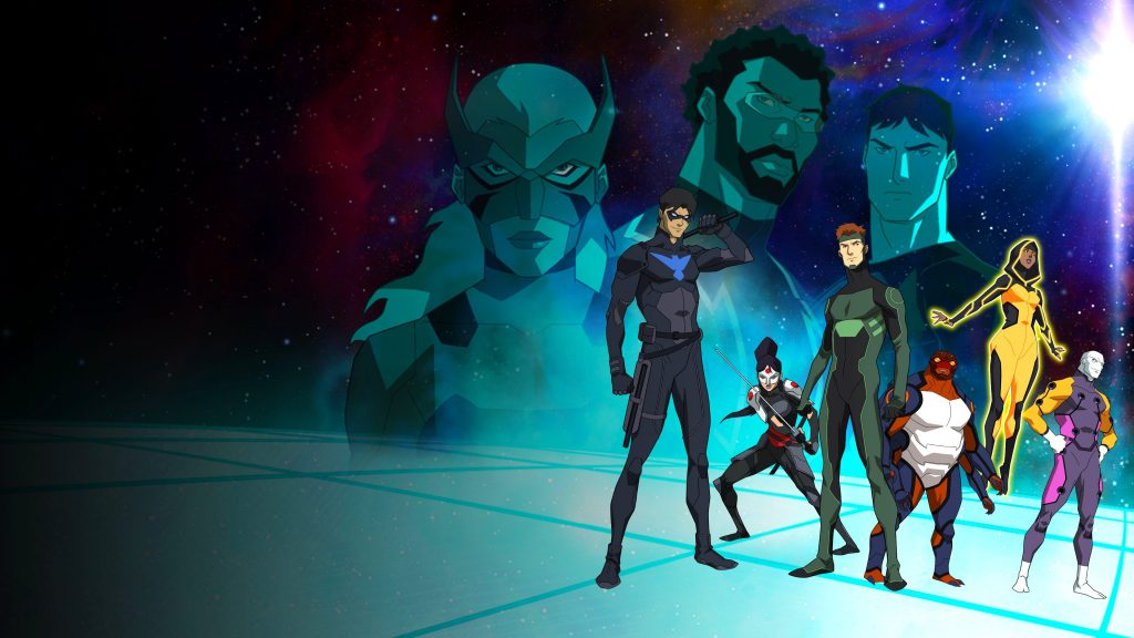 Young Justice Quad HD Background
